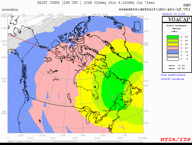 CBC North Signal Strength (Eastern Canada)